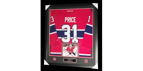 Carey Price Official Reebok license signed jersey in frame (SFC10397)