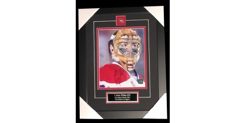 Carey Price signed 8x10 picture in frame (SFC10454)