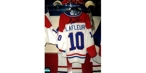 Guy Lafleur photo 8x10 signée (SFC10009)