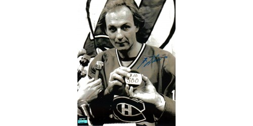 Guy Lafleur photo 8x10 signée (SFC10032)
