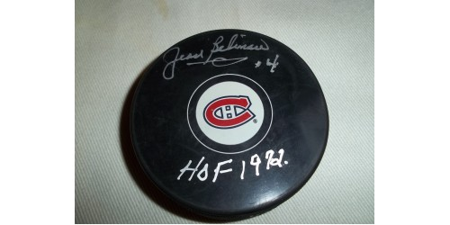 Jean Beliveau signed puck (SFC10109)