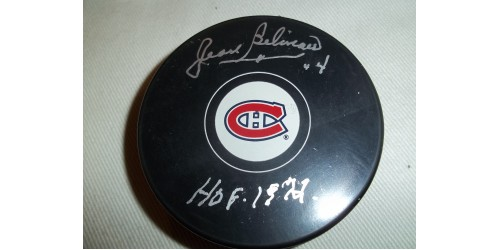 Jean Beliveau signed puck (SFC10164)