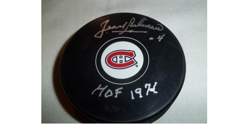Jean Beliveau signed puck (SFC10165)