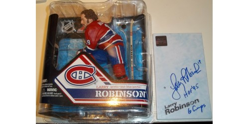 Larry Robinson Montreal Canadiens signed McFarlane (SFC10185)