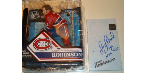 Larry Robinson Montreal Canadiens signed McFarlane (SFC10186)