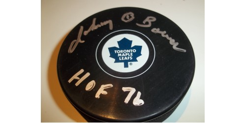 Johnny Bower rondelle signée (SFC10271)