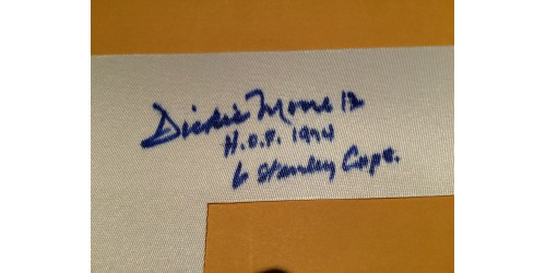 Dickie Moore signed number (SFC10333)