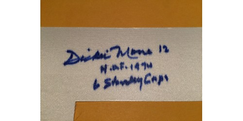 Dickie Moore signed number (SFC10335)