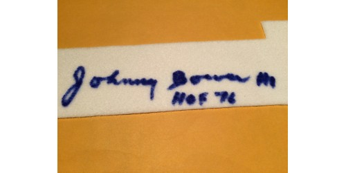 Johnny Bower wool/felt signed number (SFC10337)