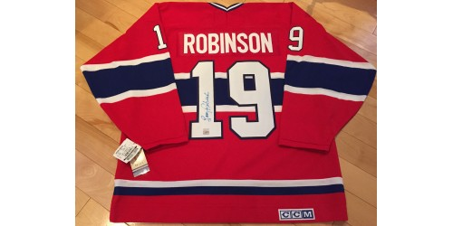 Larry Robinson Officiel CCM chandail signé (SFC10433)