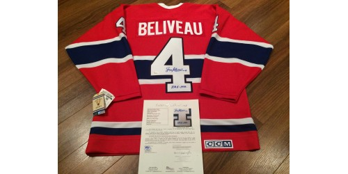 Jean Beliveau Official CCM signed jersey JSA authentification (Y61130)